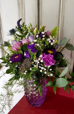 Lovely Lavender Bouquet from Wren's Florist in Bellefontaine, Ohio