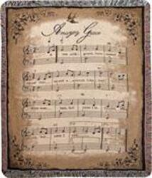 Amazing Grace Sheet Music Throw