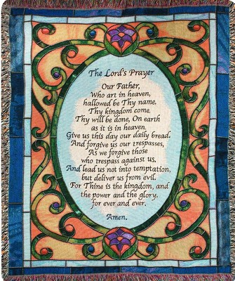 Lord's Prayer Throw from Wren's Florist in Bellefontaine, Ohio